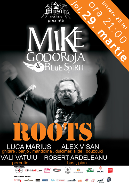 mike godoroja & blue spirit  poster